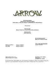 Arrow script title page - Haunted