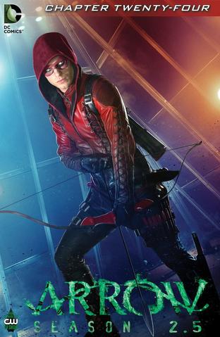 Archivo:Arrow Season 2.5 chapter 24 digital cover.png