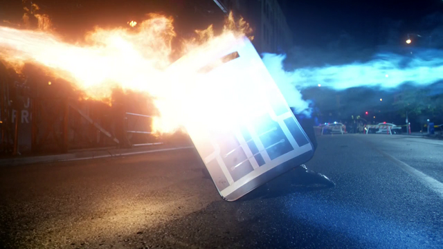 File:A modified ballistic shield withstanding the attack of Heat & Cold.png