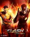 The Flash season 3 poster - Lightning strikes twice.png