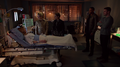 Team Arrow visiting Laurel in hospital.png