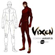 Vixen - The Flash art