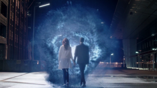 File:Barry Allen leaves for the Speed Force prison with a manifestation of the Speed Force.png