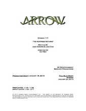 Arrow script title page - The Huntress Returns.png