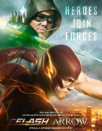 Arrow and The Flash crossover poster - Heroes Join Forces