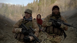 Diggle and Lyla in Afghanistan