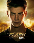 The Flash promo poster - A light in the darkness
