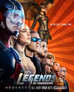 DC's Legends of Tomorrow poster - An Epic Race Against Time
