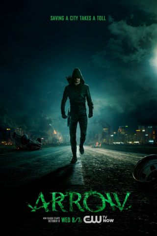 File:Arrow season 3 poster - saving a city takes a toll.png