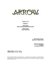 Arrow script title page - Burned