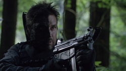 Slade Wilson with a half-covered face