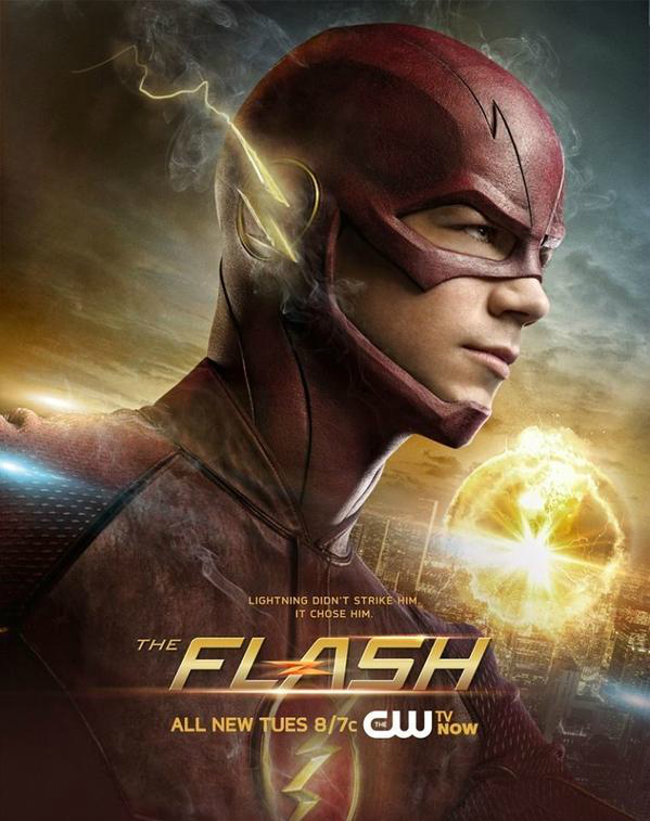 Arquivo:The Flash promo poster - Lightning didn't strike him. It chose him..png