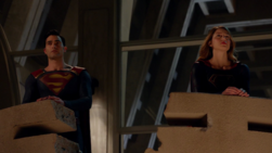 Clark and Kara say goodbye
