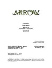Arrow script title page - Blast Radius