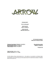 Arrow script title page - City of Blood.png