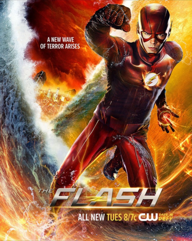 File:The Flash season 2 poster - A New Wave of Terror Arises.png