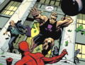 The Flash and Joey Rose fight outside Central City National Bank.png
