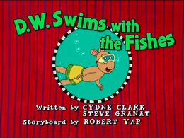 D.W. Swims with the Fishes - title card