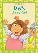 D.W.'s Library Card Reissue Cover