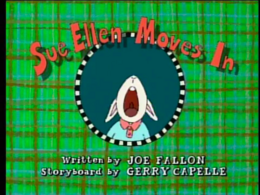 Sue Ellen Moves in Title Card