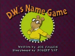 D.W.'s Name Game Title Card