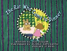 The Rat Who Came To Dinner Title Card