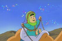 Princess Lemini riding the camel