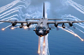 300px-AC-130H Spectre jettisons flares