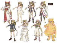 Aurica costume concepts