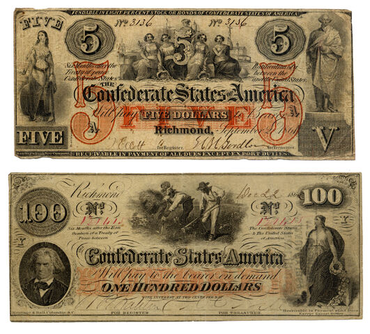 File:Confederate 5 and 100 Dollars.jpg