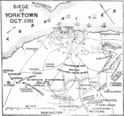 Plan of the Battle of Yorktown 1875