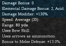 Ranged Weapon Offensive Modifiers