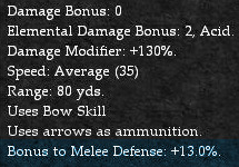Ranged Weapon Defensive Modifiers