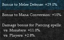 Magic Caster Defensive Modifiers