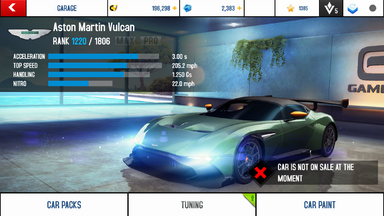 A8A Aston Martin Vulcan stock