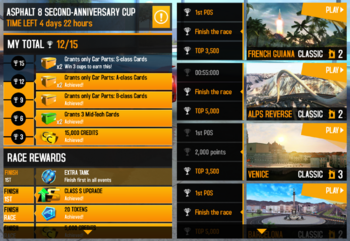 Asphalt 8 Second-Anniversary Cup