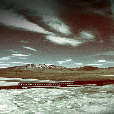西伯利亚大铁路上的一列火车