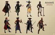 AC3L Various Characters - Concept Art