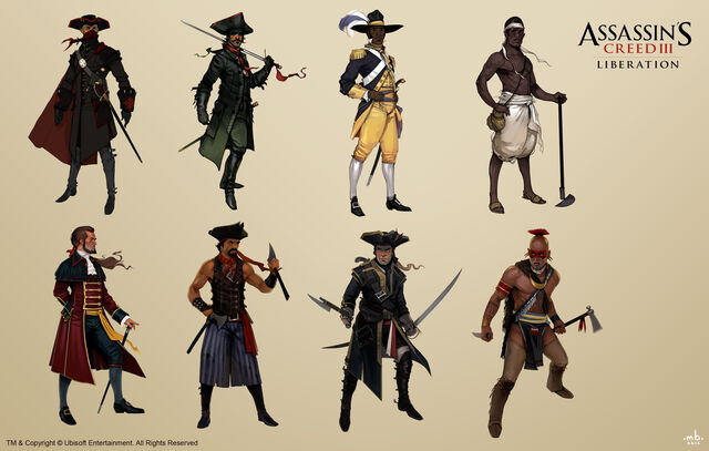 File:AC3L Various Characters - Concept Art.jpg
