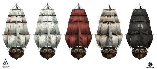 File:AC4 Jackdaw Sail Customisation - Concept Art 1.jpg
