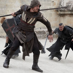 Aguilar fighting some Templars