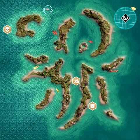 科租美岛的俯视图