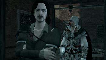 Ezio eying Antonio - ACII