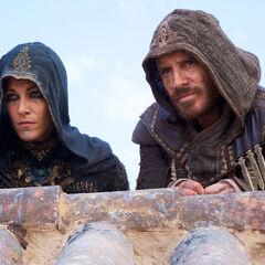 Aguilar de Nerha and Maria watching