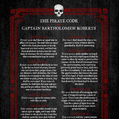 The Pirate code of Bartholomew Roberts