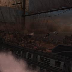天鹰号在切萨皮克湾海战中