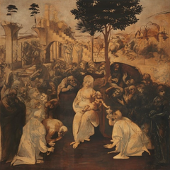 <b>博士来拜</b>,或<b>三王来拜</b><br />(Adoration of the Magi)<br /> <a href=