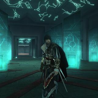 Ezio staat in de kerker