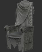 AC3 King Washington Throne ZBrush Model