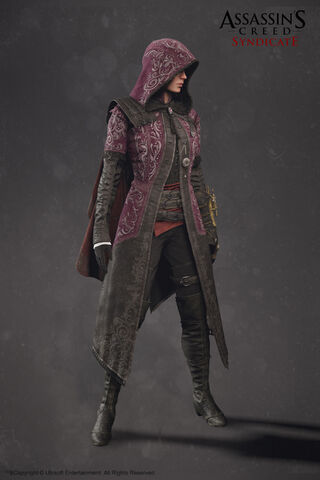 File:ACS Evie Frye Nightshade Cloak Model - Front View.jpg